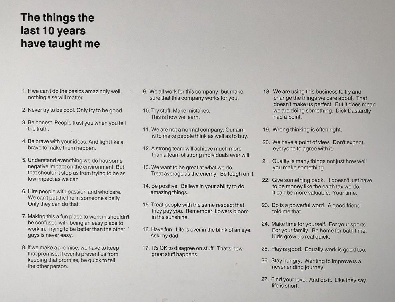 David Hieatt's Company Rules